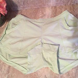Athleta light mint green shorts